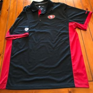 NFL Licensed 49ers Dri-Fit Team Gear Golf Shirt